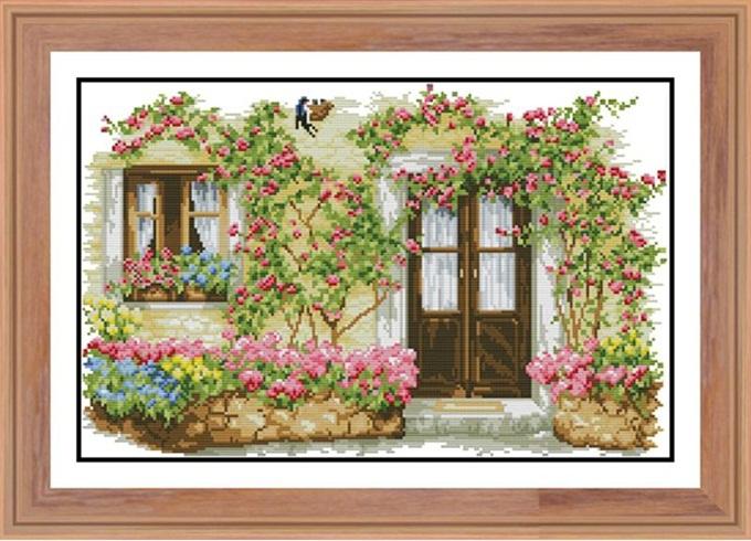 Rose cabin (ไม่พิมพ์/พิมพ์ลาย)