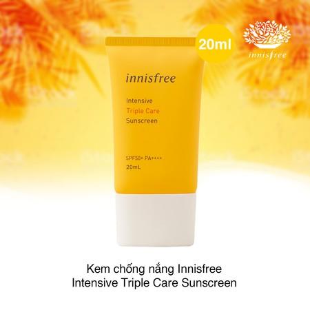Innisfree Intensive Triple Care Sunscreen SPF 50 PA++ 20ml