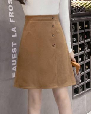 พรีออเดอร์ กระโปรงสั้น กระโปรงทำงาน แต่งซิปหลัง แฟชั่นเกาหลีสวยๆ เสื้อผ้าแฟชั่น สีน้ำตาลเข้ม และดำ