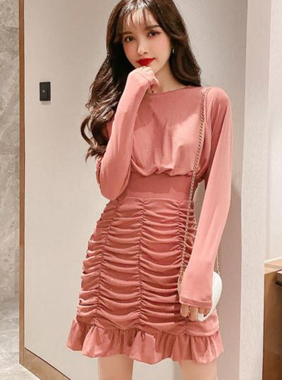 พรีออเดอร์ เดรส สวย ๆ เสื้อผ้าแฟชั่น เดรสแขนยาว เดรสราตรีออกงาน ทรงเกาหลี สี ส้ม ดำ และเทา