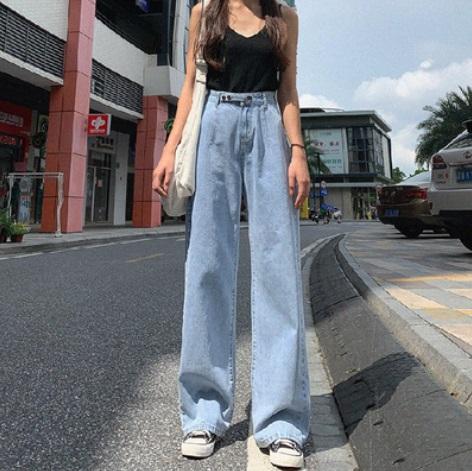 กางเกงยีนส์ ขายาว ทรงตรง ไซส์: S/M/L/XL