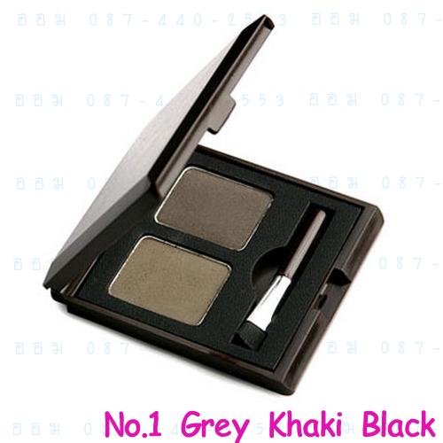 ( 1 Gray Black ) Choco Eyebrow Powder Cake