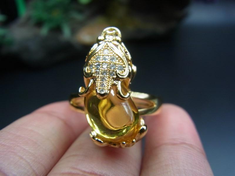 แหวนชุบทอง 18 K ปี่เซียะนำโชค เบอร์ 62