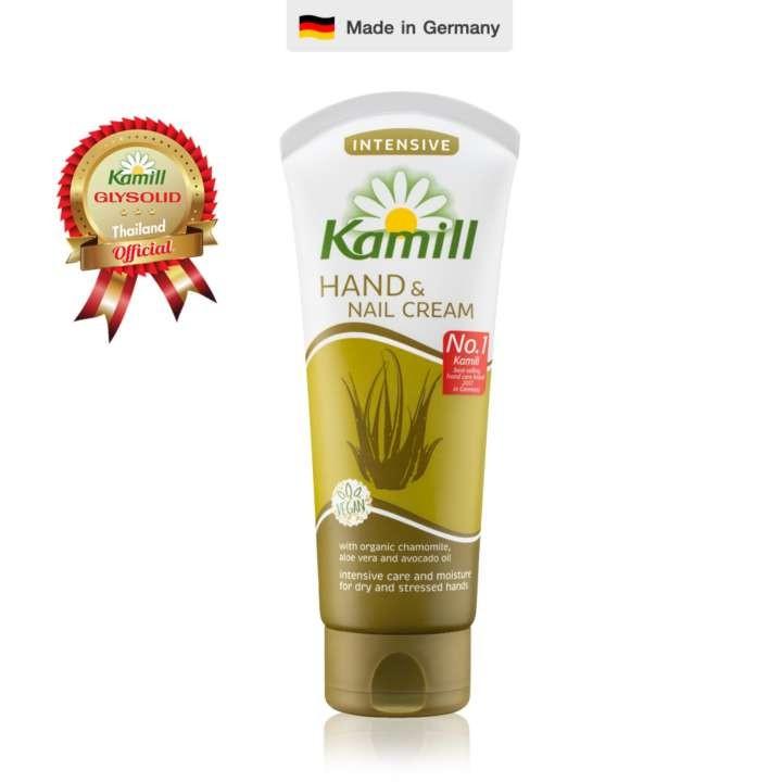 *พร้อมส่ง*Kamill Hand & Nail Cream Intensive 100 ml. ครีมบำรุงผิวมือและเล็บ สูตรอินเท็นซีฟด้วยส่วนผสมจากว่านหางจระเข้และอโวคาโดจะช่วยกระชับรูขุมขนบนผิวมือ ลดเลือนจุดด่างดำ รอยแผลเป็น และช่วยกระตุ้นการสร้างคอลลาเจนใต้ชั้นผิวให้มีประสิทธิภาพมากขึ้น และ