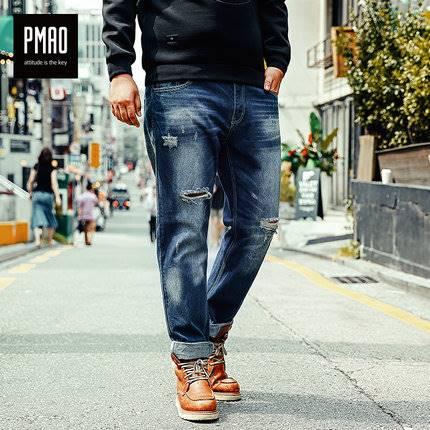 ขนาด:3XL 4XL 5XL 6XL สี:น้ำเงิน กางเกงคนอ้วน กางเกงผู้ชาย ขนาดใหญ่ กางเกงยีนส์ ขายาว