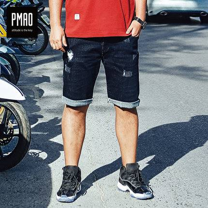 ขนาด:2XL 3XL 4XL 5XL 6XL สี:ดำ กางเกงคนอ้วน กางเกงผู้ชาย ขนาดใหญ่ กางเกงยีนส์ ขาสั้น