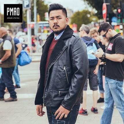 ขนาด:2XL 3XL 4XL 5XL สี:ดำ เสื้อคนอ้วน เสื้อผ้าผู้ชาย ขนาดใหญ่ เสื้อแจ็คเก็ต