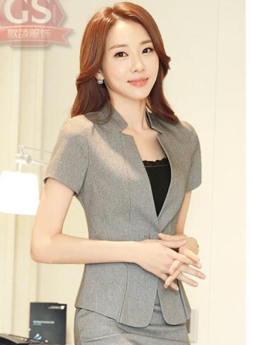 พรีออเดอร์ เสื้อแฟชั่น แขนสูท เสื้อคลุม สไตลเกาหลี ชุดทำงานสวย ๆ สี  เทา ดำ ขาว