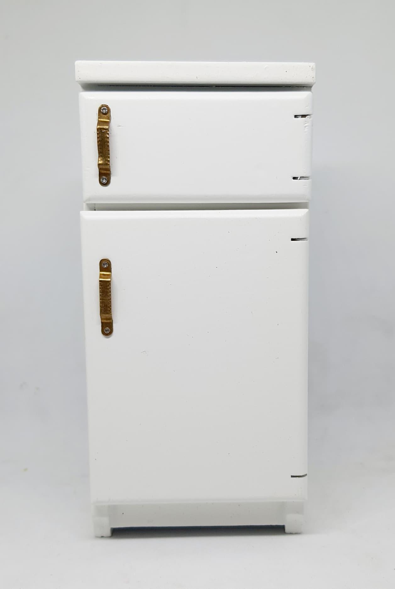 A052-ตู้เย็น2ประตูงานไม้ทำสี