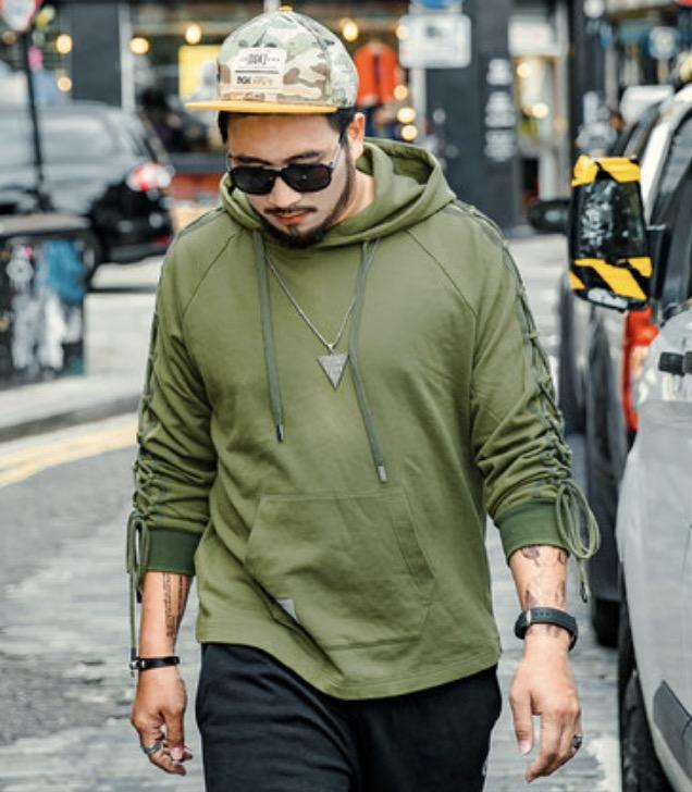ขนาด:XL 2XL 3XL 4XL 5XL 6XL สี:เขียว เสื้อคนอ้วน เสื้อผ้าผู้ชาย ขนาดใหญ่ เสื้อกันหนาวมีฮู้ด
