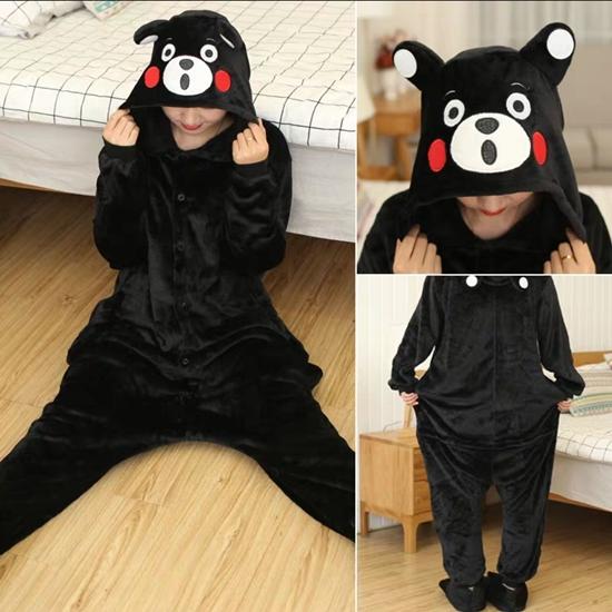 7C96 ชุดมาสคอต ชุดนอน ชุดแฟนซี คุมะมง Mascot Kumamon Bear Costumes