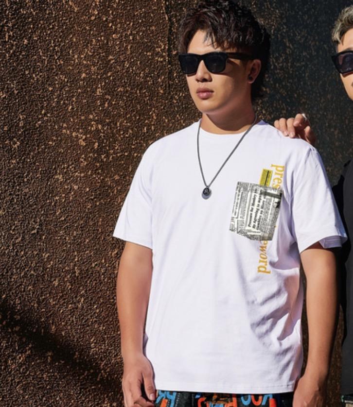 ขนาด:  3XL 5XL 6XL สี:ขาว เสื้อคนอ้วน เสื้อผ้าผู้ชาย ขนาดใหญ่ เสื้อยืด แขนสั้น