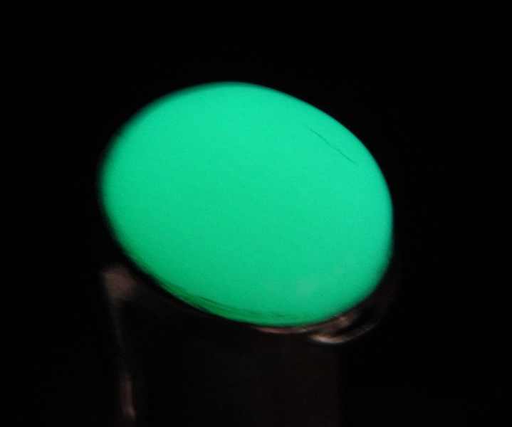 แหวนหินมณีรัตติกาล (ไข่มุกราตรี) เบอร์ 52 ตัวเรือนเงินแท้