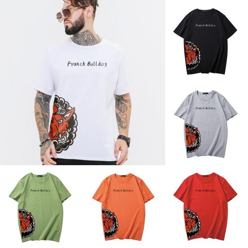 ขนาด:XL 2XL 3XL 4XL 5XL 6XL สี: ขาว ดำ เทา เขียว แดง ส้ม เสื้อคนอ้วน เสื้อผ้าผู้ชาย ขนาดใหญ่ เสื้อยืด แขนสั้น