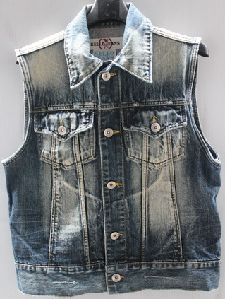 รอบอก 37  เสื้อผ้าผู้ชาย KELLO jeans ยีนส์ เสื้อกั๊กยีนส์ ฟอกลุ่ย