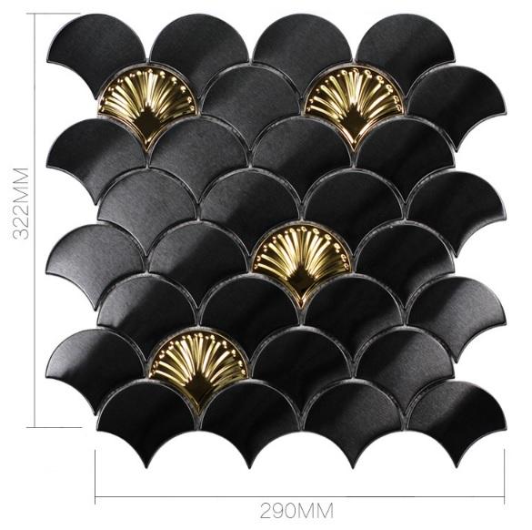 Black stainless fan shape