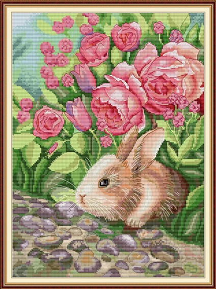 The rabbit is smelling (ไม่พิมพ์/พิมพ์ลาย)