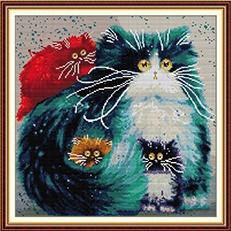 Colorful cat (ไม่พิมพ์/พิมพ์ลาย)