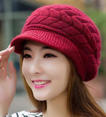 พร้อมส่ง หมวกสวย ๆ สไตลเกาหลี หมวกไหมพรม กันหนาว สี ชมพู แดงสด แดงเข้ม ครีม ดำ น้ำตาล