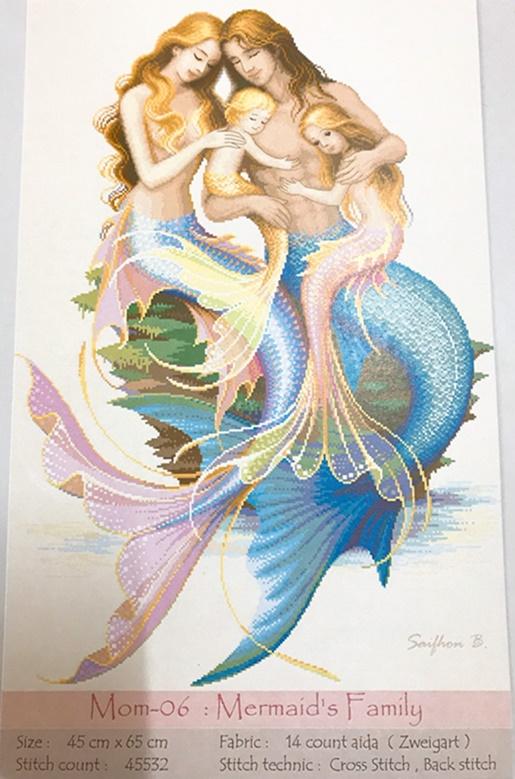 Mermaid's Family (ไม่พิมพ์ลาย)