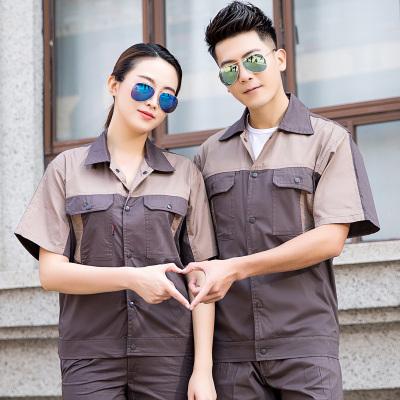pre-order ** ชุดทำงานชุดยูนิฟอร์ม ช่าง เสื้อ+กางเกง สีตามภาพ ไซร์ s( 160) M(165) L(170) XL( 175) 2XL( 180) 3XL (185) 4XL (190) ,