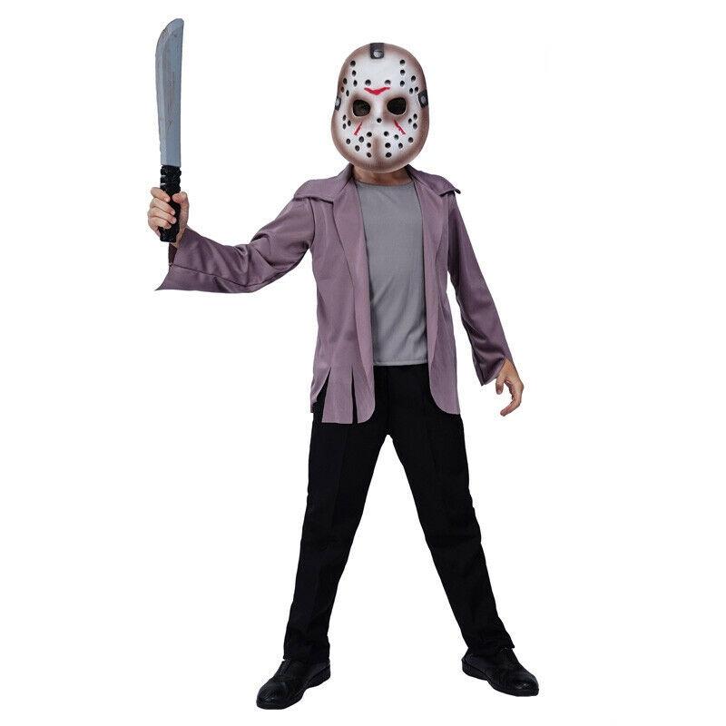 7C195 ชุดเด็ก ชุดเจสัน เจสัน วอร์ฮีส์ ศุกร์ 13 ฝันหวาน Jason Voorhees Friday the 13th Costumes