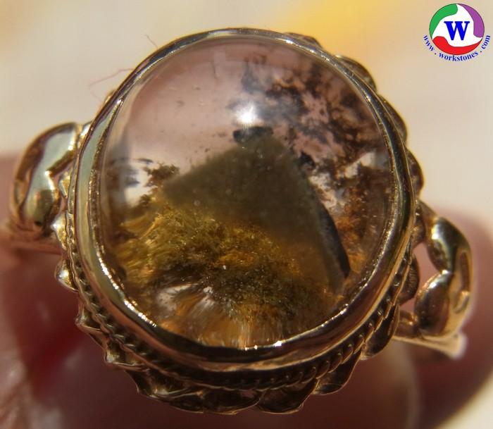 แหวนทองเหลือง 3.38 กรัม เบอร์ 55 แก้วโป่งข่ามนำโชค ชนิดแก้ว 3 กษัตริย์ ที่หายาก