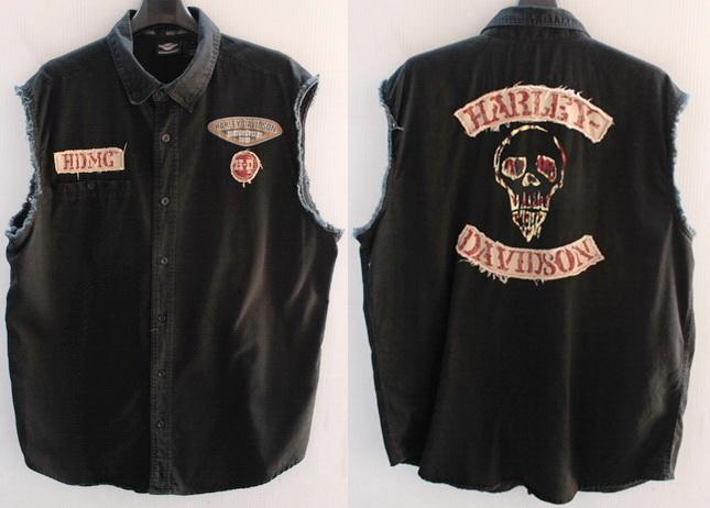 รอบอก 50  เสื้อผ้าผู้ชาย เสื้อเชิ๊ตแขนกุด เสื้อกั๊ก harley davidson