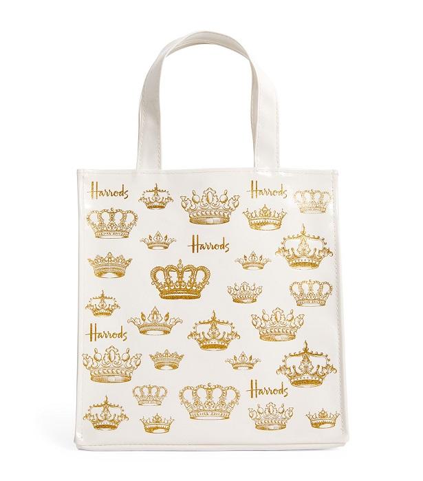Harrods ไซส์เอส  รุ่น Small Crowns Shopper Bag (กระดุม)***พร้อมส่ง