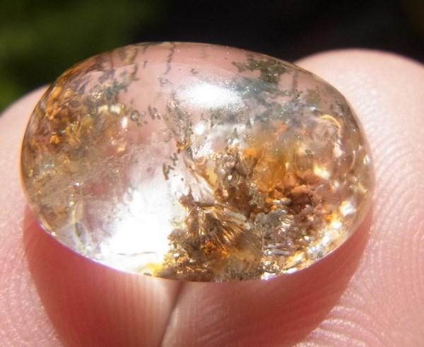 แก้วโป่งข่ามนำโชค 8.75 กะรัต ชนิดแก้วปวก 3 สี  เขียว นาค ทอง+กาบทอง