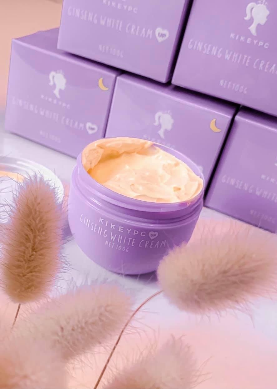 ครีมโสมกี้ Kikeycp Ginseng White Cream โสมกี้ปรับสูตรสารสกัดเข้มข้น 100g. ( 1 กระปุก )