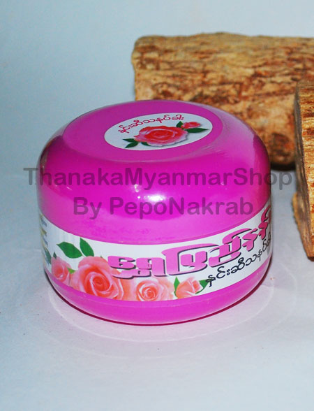 แป้งพม่าทานาคา สูตรกุหลาบ กระปุกเล็ก - Shwe Pyi Nann Rose