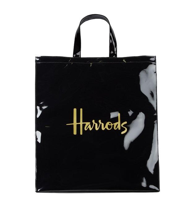 กระเป๋า Harrods รุ่น Large Logo Shopper Bag สีดำ (กระดุม)  ***พร้อมส่ง