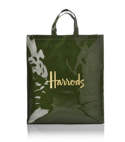 กระเป๋า Harrods- Signature Shopper (Green)  (Large) ***พร้อมส่ง