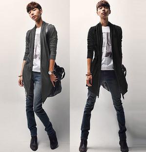 เสื้อผ้าผู้ชายราคาถูก เสื้อคลุมแฟชั่นเท่ๆ มี สีดำ สีเทา มีไซร์ S M L XL XXL