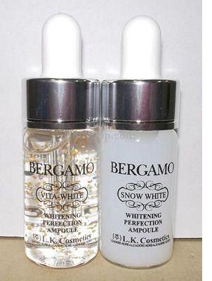 Bergamo Snow White&ampampVita-white Whitening Perfection Ampoule Set  ซึ่งช่วยยับบั้งต้นเหตุของการเกิดฝ้า