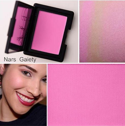 NARS Blush สี Gaiety 4.8 g. (สีชมพูลูกกวาดแสนสวยเนื้อแมท) บลัชออนเนื้อเนียนละเอียดดุจใยไหม เนรมิตพวงแก้มสวยระเรื่อเปล่งปลั่ง ดูสุขภาพดี ด้วยเม็ดสีที่คมชัด แม้ปัดเพียงบางเบาก็ให้เนื้อสีที่ฟุ้งสวยเป็นธรรมชาติ