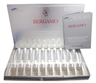 Bergamo Snow White&Vita-white Whitening Perfection Ampoule Set  10 คู่