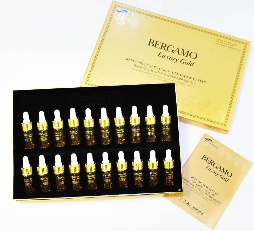 Bergamo Luxury Gold Collagen& Caviar Wrinkle Care Intense Repair set 20 ชิ้น