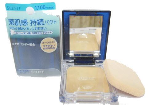 **พร้อมส่ง**Shiseido Selfit Powder Foundation SPF 20 PA++ 13g. แป้งผสมรองพื้นเนียนบางที่ทาแล้วลดรอยจุดด่างดำอำพรางสิวได้อย่างมหัศจรรย์ อีกทั้งยังช่วยป้องกันผิวจากรังสี UV ด้วยค่า SPF20 แม้แดดจ้าขนาดไหนก็ไม่ทำให้คุณกังวล ทำให้คุณมีใบหน้าสวยเนียนใสได้ตลอดทั
