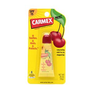 **พร้อมส่ง** CARMEX - Lip balm tube Cherry flavored +SPF 15 ลิปบาล์มแบบหลอดกลิ่นเชอรี่ +กันแดด SPF15 ช่วยให้ปากชุ่มฉ่ำ แก้ปากแห้ง แตกเป็นขุย ปากลอกหายสนิท