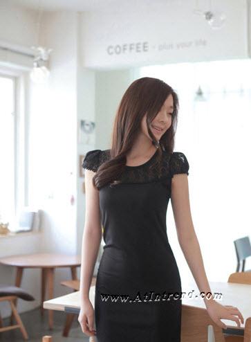 เดรส ชุดเดรส ชุดกระโปรง เดรสใส่ทำงาน เดรสออกงาน สีดำ ไซส์ S M L XL XXL เดรสน่ารัก เดรสเกาหลี Dress ผู้หญิง แฟชั่นเกาหลีหญิง