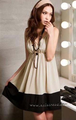 เดรส ชุดเดรส ชุดกระโปรง เดรสใส่ทำงาน เดรสออกงาน สีกากี สีน้ำเงิน ไซส์ S M L เดรสน่ารัก เดรสเกาหลี Dress ผู้หญิง แฟชั่นเกาหลีหญิง