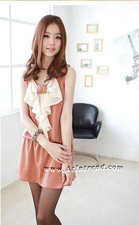 เดรส ชุดเดรส ชุดกระโปรง เดรสวัยรุ่น เดรสออกงาน สีส้ม สีเทา สีดำ เดรสน่ารัก เดรสเกาหลี Dress ผู้หญิง แฟชั่นเกาหลีหญิง