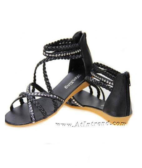 รองเท้า รองเท้าผู้หญิง รองเท้าแฟชั่นผู้หญิง รองเท้าแตะ รองเท้าแตะรัดข้อ สีดำ สีขาว รองเท้ารัดข้อ รองเท้าผูก รองเท้าหญิงน่ารักๆ ไซส์ 34 35 36 37 38 39 แฟชั่นหญิงเกาหลี
