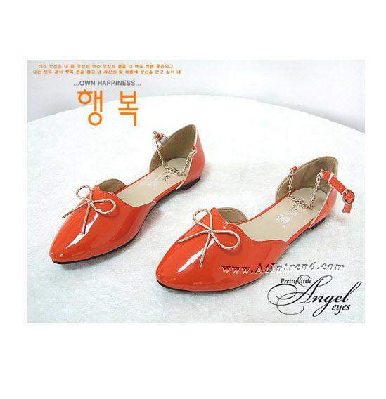 รองเท้า รองเท้าผู้หญิง รองเท้าแฟชั่นผู้หญิง รองเท้าหุ้มส้น รองเท้ารัดข้อ สีข้าว สีส้ม สีดำ รองเท้าผู้หญิงหุ้มส้น รองเท้าหญิงน่ารักๆ ไซส์ 35 36 37 38 39 แฟชั่นหญิงเกาหลี