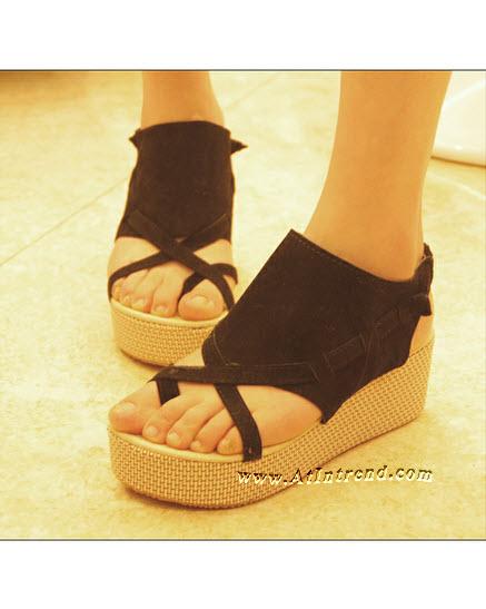 รองเท้า รองเท้าผู้หญิง รองเท้าแฟชั่นผู้หญิง รองเท้าแตะ รองเท้าหุ้มส้น สีส้ม สีดำ สีเขียว รองเท้าหญิงน่ารักๆ ไซส์ 35 36 37 38 39 แฟชั่นหญิงเกาหลี