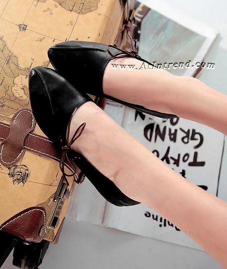 รองเท้า มี3สี รองเท้าผู้หญิง รองเท้าแฟชั่นผู้หญิง รองเท้าหุ้มข้อ รองเท้าหุ้มส้น รองเท้าผู้หญิงหุ้มส้น สีดำ สีน้ำตาลอ่อน สีน้ำตาลเข้ม รองเท้าหญิงน่ารักๆ รองเท้าทำงาน ไซส์ 34 35 36 37 38 39 แฟชั่นหญิงเกาหลี รองเท้าเกาหลี