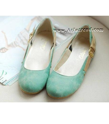 รองเท้า มี3สี รองเท้าผู้หญิง รองเท้าแฟชั่นผู้หญิง รองเท้าหุ้มข้อ รองเท้าหุ้มส้น รองเท้าผู้หญิงหุ้มส้น สีดำ สีขาวข้าว สีเขียวฟ้า รองเท้าหญิงน่ารักๆ รองเท้าทำงาน ไซส์ 34 35 36 37 38 39 แฟชั่นหญิงเกาหลี รองเท้าเกาหลี