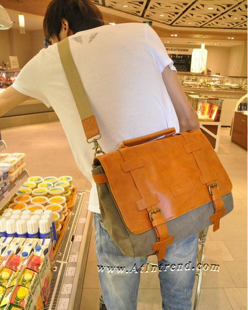 กระเป๋าสะพายไหล่ชาย กระเป๋าผ้าแคนวาส กระเป๋าถือชาย กระเป๋าเป้ กระเป๋าสะพายเท่ๆ สีดำ สีกากี สีน้ำเงิน กระเป๋าแฟชั่นชาย กระเป๋าแฟชั่นเกาหลี กระเป๋าวัยรุ่นชาย แฟชั่นชายเกาหลี กรเป๋าชายลดราคา